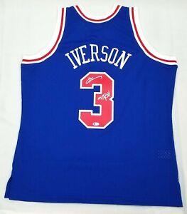 ALLEN IVERSON SIGNED PHILADELPHIA 76ERS BLUE MITCHELL & NESS JERSEY W/ 97 ROY