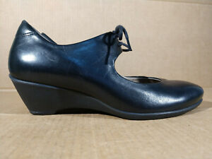 ECCO Sculptured Women's Lace Up Mary Jane Comfort Wedge Shoes Size 39 US 8 8.5