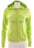 HOLLISTER Womens Hoodie Sweater Size 12 Medium Green Cotton  EP10