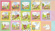Precious Express Patch Loralie Cotton Quilting Fabric Panel