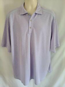 Men's TOMMY BAHAMA  Lilac Polo Golf Shirt 1XB Tencel & Polyester EUC!