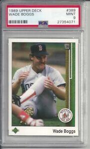 1989 Upper Deck Wade Boggs #389 PSA 9 Mint Baseball Card.