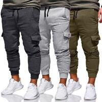Hip Hop Mens Sport Pants Long Trousers Casual Bottoms Fitness Joggers Pants