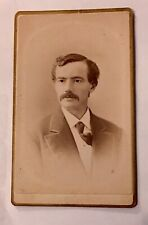 ANTIQUE CDV Collectible Photo🔸1800s Gentleman W/Mustache Peoria, Ill., 🔸MINT🔸