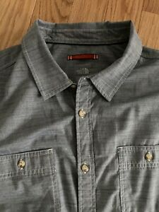 The North Face Men's Long Sleeve Montgomery Chambray Button Up Shirt Size XXL