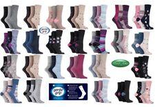 12 Pairs Ladies SockShop Cotton Gentle Grip Socks UK 4-8 Blues Socks RH73