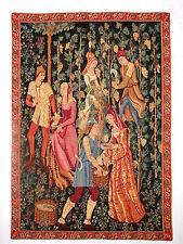 "THE PRESSING (LHS) 26"" X 18"" LINED BELGIAN TAPESTRY WALL HANGING WITH ROD SLEEVE"