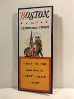 1960 Boston is a Browsing Town City of Infinite Interest Travel Brochure and Map