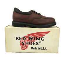 Vintage Red Wing Red/Brown Oil Resistant Loafer Shoes Made In USA With Box RARE