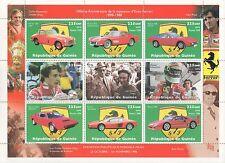 100th ANNIVERSARY OF THE FERRARI CAR SCHUMACHER GUINEE 1998 MNH STAMP SHEETLET