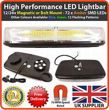 LED AMBRA 12/24V Barra luminosa MAGNETICO/BULLONE lampeggiante faro RECUPERO