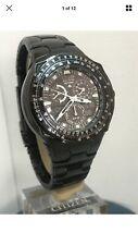 Citizen Men's SKYHAWK Black Eangel Alarm Chronograph Watch Bracelet JR3155-54E