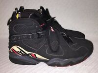 Men's Size 9 2007 Nike Air Jordan Retro 8 Playoff Black/Red Sneakers 305381-061