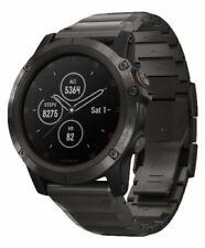 Garmin fenix 5X Plus Sapphire Carbon Gray Watch DLC Titanium Band 010-01989-04