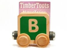 Timber Toots Name Trains Wooden Railway System Alphabet Preschool Toys Letter B