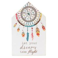Let Your Dreams Take Flight Dreamcatcher Design Wooden Plaque House Shaped Sign