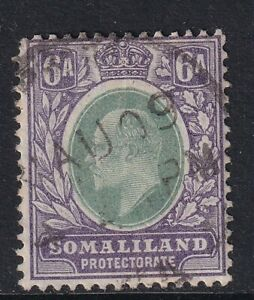 SOMALILAND PROTECTORATE EDVII SG50a, 4a green & black - fine used