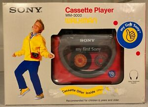 Vintage UNUSED NEW OLD STOCK My First Sony Walkman WM-3000 Cassette Tape Player