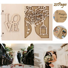 Wedding Wooden Guest Book Message Board Wooden Album Party Decoration Supplies