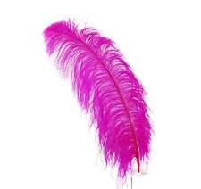 "1 HOT PINK Ostrich FEATHERS 23-28"" Full Wing PLUMES; Bridal/Wedding/Centerpiece"