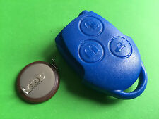 For Ford Transit Connect Mk7 3 Button Blue Remote Alarm Key Case Battery VL2330
