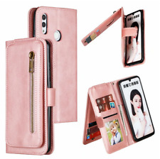 Multi-function Zipper Flip Leather Wallet Case Cover For Samsung Galaxy A21S