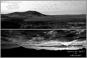 """""""Hollister Sky"""" Morro of SLO-CA, B&W ArtPhoto, DigFILES, Prints, FrameReady LtEd"""