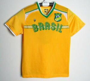 Brasil Brazil Futbol Soccer Jersey #6 SIMPLY FOR SPORTS Youth MEDIUM 10/12