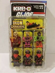 Kre-O GI Joe SDCC Sgt Slaughter DESTRO IRON GRENADIER Set of 6 Kreons sealed