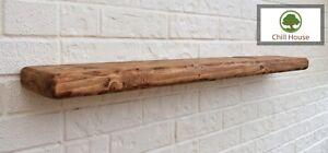 6x2 Rustic Floating Shelf Wood Solid Chunky Handmade oak Walnut Industrial