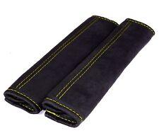 Gurtschoner schwarz mit gelber Naht Gurtpolster 2 Stück