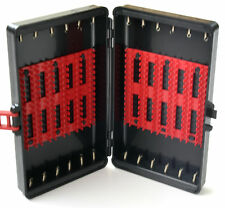scatola porta artificiali pesca astuccio plastica porta cucchiaini con molla