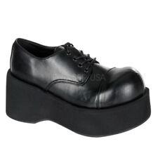 Demonia Dank-101 Womens Black Punk Gothic Oxfords Platform Goth Shoes 8 13
