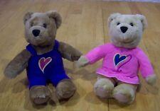 "Kissing HALLMARK KISS KISS TEDDY BEARS 9"" Plush Stuffed Animal Toy SET"