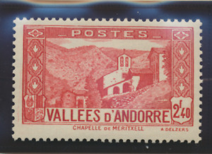 Andorra (French Administration) Stamp Scott #58A, Mint Lightly Hinged