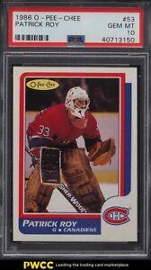 1986 O-Pee-Chee Hockey Patrick Roy ROOKIE RC #53 PSA 10 GEM MINT