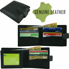 Genuine Leather Mens Bi Fold Wallet 12 Cards Zipped Notes Quality Guaranteed