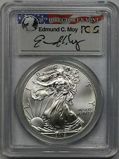 2013 American Silver Eagle $1 MS 69 PCGS Edmund C. Moy Signature