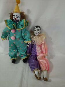 Vintage porcelain Clowns dolls