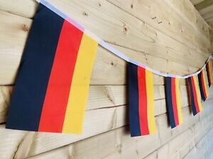 🇩🇪GERMAN GERMANY FLAG Bunting Sporting Traditional Events Polyester 32 Flag 8m