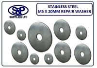 """5MM X 20MM - 3/16"""" X 3/4"""" STAINLESS STEEL REPAIR WASHER 20MM OUTSIDE DIA ST/ST"""
