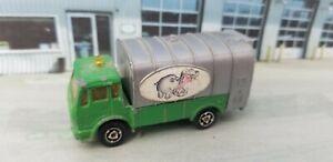 VNTG 1980 Majorette 1:100 Mercedes-Benz Hippo Refuse Garbage Disposal Truck #218