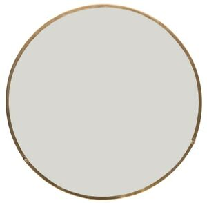 Small Round Wall Hanging and Standing Mirror With Brass Rim by Ib Laursen