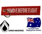 Remove Before Flight Key Ring Chain Motorbike LIKWID