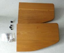 A Pair of rare Ercol Winged Side Shelves (Right Hand) in Blonde with all fixings
