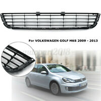 For VW GOLF MK6 2009-2013 Front Lower Bumper Grille Grill Vent Black Trim
