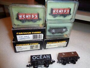 Farish & Peco Wagons x 8 Excellent      1722 5056