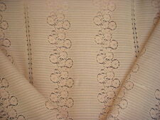 14+Y LEE JOFA BEAUTIFUL FLORAL LACE COTTON SHEER DRAPERY UPHOLSTERY FABRIC