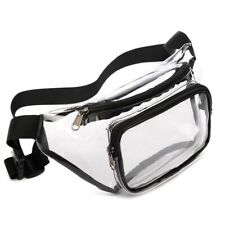 Clear Fanny Pack Stadium Approved Belt Bag Security Black warehouse school USA