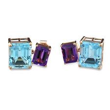 Ein Paar Blautopas-Amethyst-Ohrhänger zus. 15,82 carat 750-Rotgold NEU (39769)